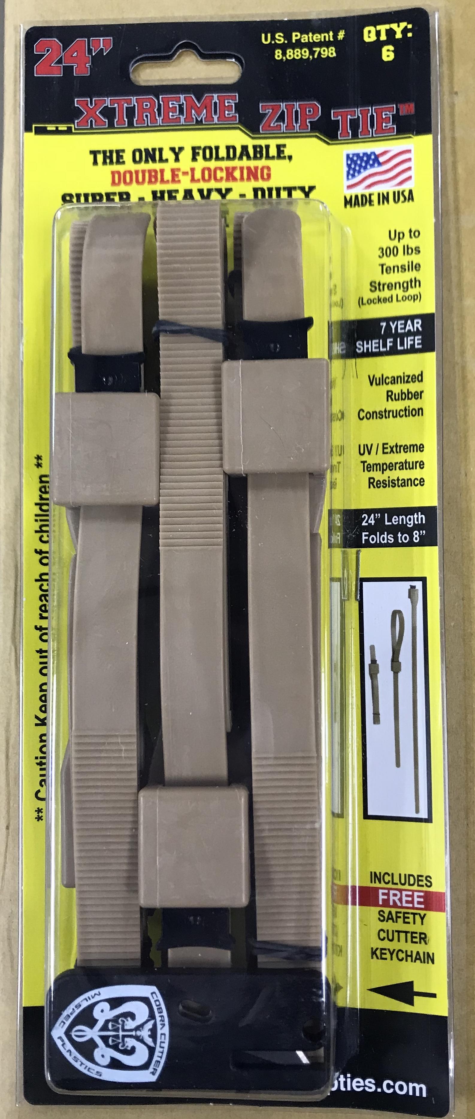 "78afb2f12995 XTREME Zip Ties™; Foldable- Super Heavy Duty 24"" (8"" Folded ..."